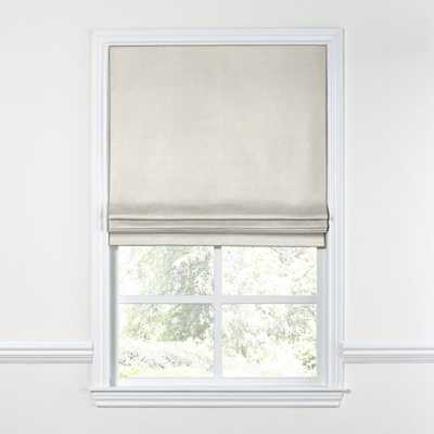 Flat Roman Shade  Classic Linen - Heathered Flax, Left Cord - W 22 3/4'' x H 71'' - PRIVACY - Loom Decor