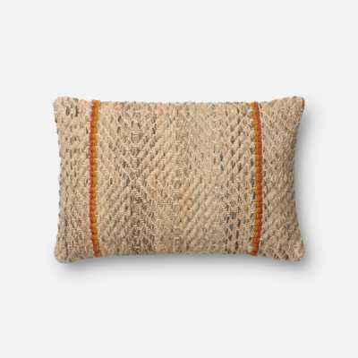 "DSET Pillow CAMEL / COFFEE 13"" X 21"" Cover w/Down - Loma Threads"