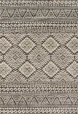 "EMORY Rug GRAPHITE / IVORY 7'-7"" X 10'-6"" - Loma Threads"