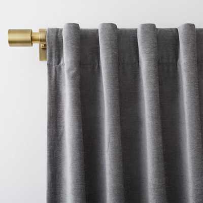 "Worn Velvet Curtain + Blackout Panel, Metal, 48""X96"" - West Elm"