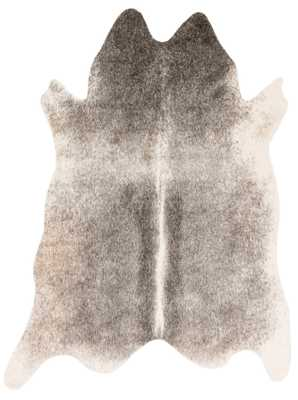 "Lyle Hide Rug Grey/Ivory - 6'2"" x 8' - Studio Marcette"