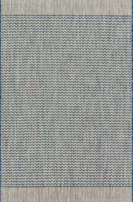 """ISLE Rug GREY / BLUE 7'-10"""" X 10'-9"""" - Loma Threads"""