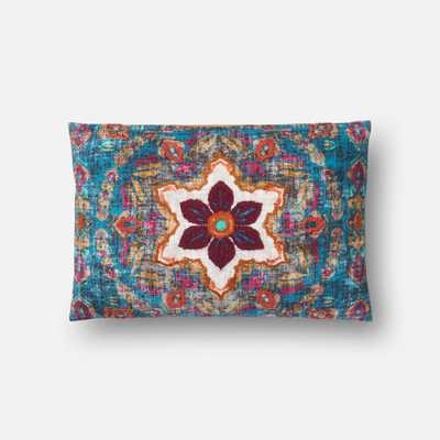 """PILLOWS Pillow MULTI 13"""" X 21"""" Cover w/Down - Loma Threads"""