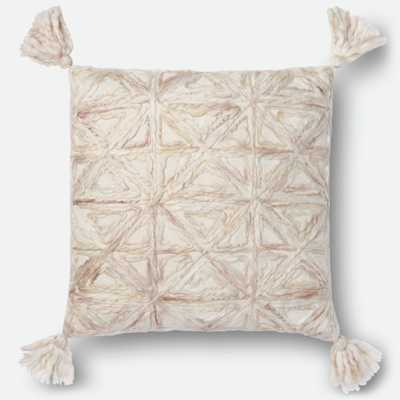 """PILLOWS Pillow NATURAL 22"""" X 22"""" Cover w/Down - Loma Threads"""
