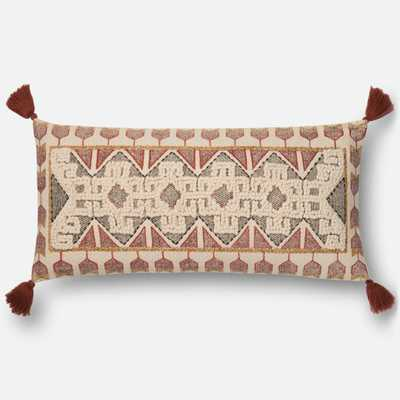 """PILLOWS Pillow MULTI 12""""x27"""" Cover w/Poly - Loma Threads"""