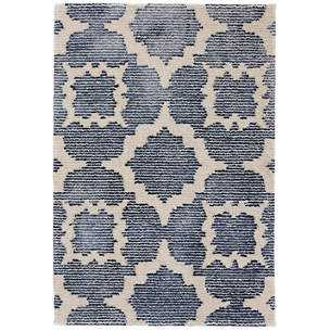 CHINA BLUE TUFTED WOOL/VISCOSE RUG- Runner 2.5x8 - Dash and Albert