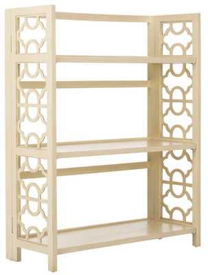 NATALIE SMALL OPEN BOOKCASE ANTIQUE WHITE - Arlo Home