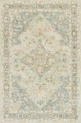 "JULIAN Rug SEAFOAM GREEN / SPA 7'-9"" x 9'-9"" - Loma Threads"