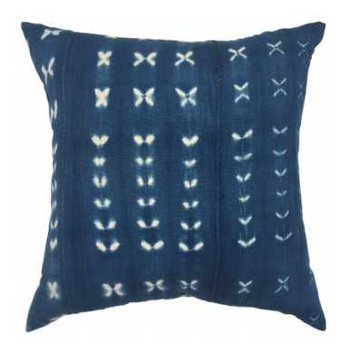 NEHA ONE OF A KIND INDIGO MUDCLOTH PILLOW - Lulu and Georgia