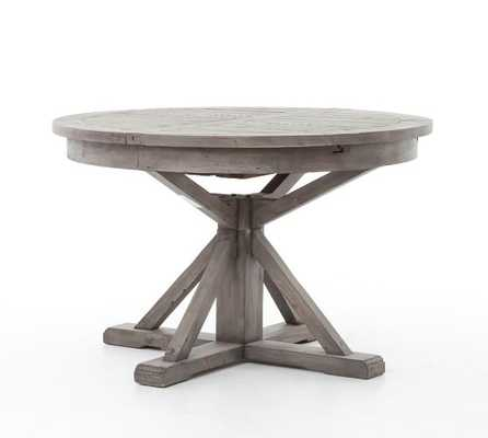 """HART 48"""" DINING TABLE, BLACK OLIVE - 47.5"""" - 63"""" L - Pottery Barn"""
