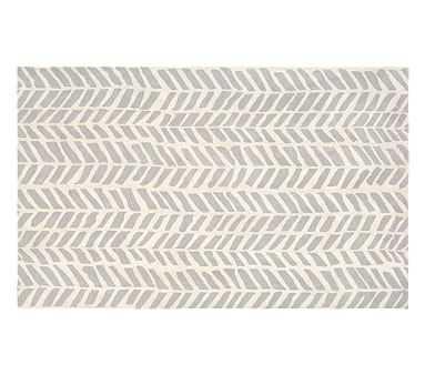 Chevron Arrows Rug, 5x8', Gray - Pottery Barn Kids