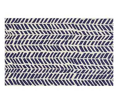 Chevron Arrows Rug, 8x10', Navy - Pottery Barn Kids