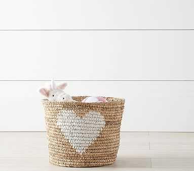 Raffia Heart Basket - Pottery Barn Kids