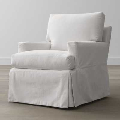 Hathaway Slipcovered Chair - Crate and Barrel