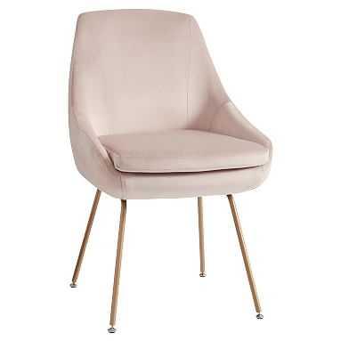 Mathis Chair, Dusty Blush Lustre Velvet - Pottery Barn Teen