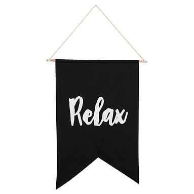 Relax Canvas Banner - Pottery Barn Teen