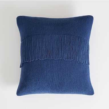 Chic Fringe Pillow Cover, 16X16, Twilight Navy - Pottery Barn Teen