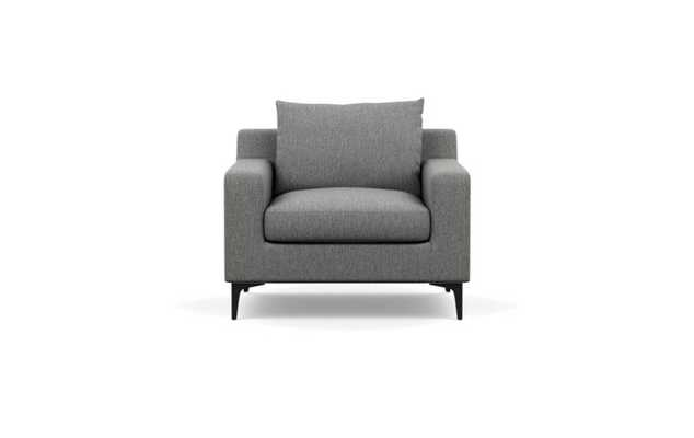 Sloan Accent Chair - Plow Cross Weave/Matte Black Sloan L leg - Interior Define
