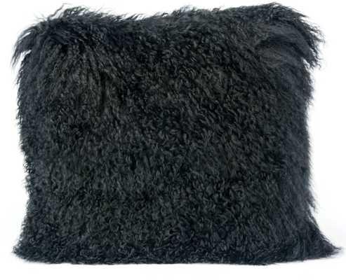 """Milan Pillow, 16""""x 16"""", Black - Studio Marcette"""
