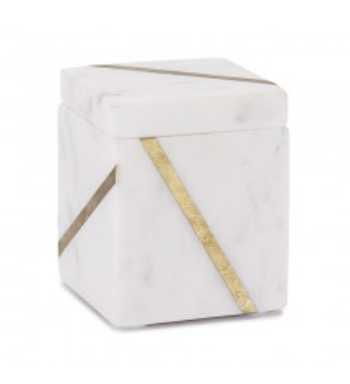 Mont Blanc Marble Bath Accessories- Cotton Jar - Kassatex