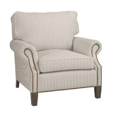 Stratford Chair - Vintage Ticking Stripe Black, Driftwood - Ballard Designs