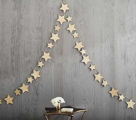 Emily & Meritt Glitter Star Garland - Pottery Barn Kids