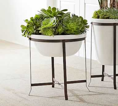 Amir Planter With Stand Low Bowl - Pottery Barn