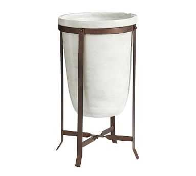 Amir Planter With Stand Tall Pot - Pottery Barn