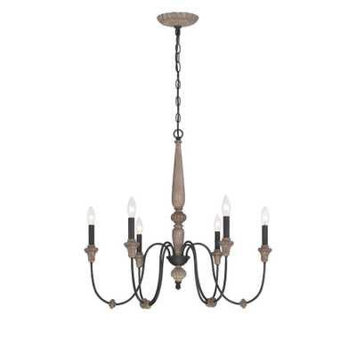 Capra 6-Light Rust Chandelier with Distressed Ivory Accents - Home Depot