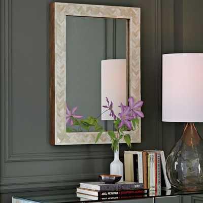 Parsons Small Wall Mirror - Bone Inlay - West Elm