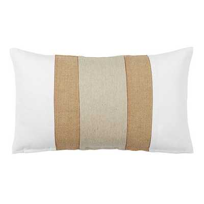 Linen & Burlap Colorblock Pillow Natural - Ballard Designs