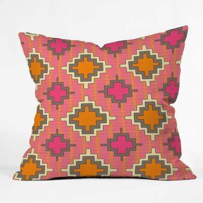 Tangerine Kilim Outdoor Throw Pillow - Wander Print Co.