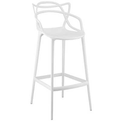ENTANGLED BAR STOOL IN WHITE - Modway Furniture