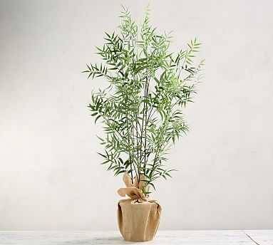 Faux Bamboo Tree, Green - Large - Pottery Barn