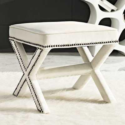 Rivet Upholstered Bedroom Bench - Modway Furniture
