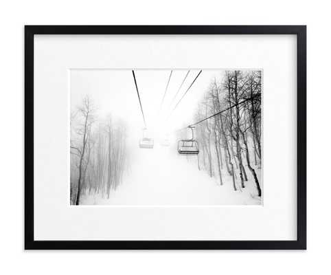 """winter upon us - Rich Black Wood Frame - Matted - 14"""" x 11"""" - Minted"""