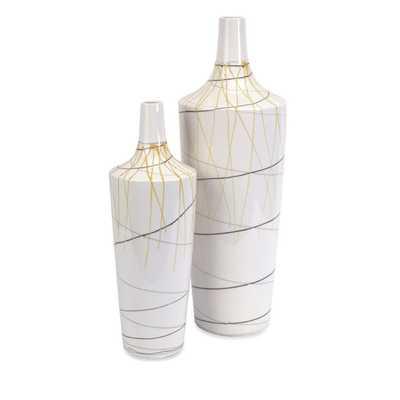 Curasso Retro Finish Vases - Set of 2 - Mercer Collection