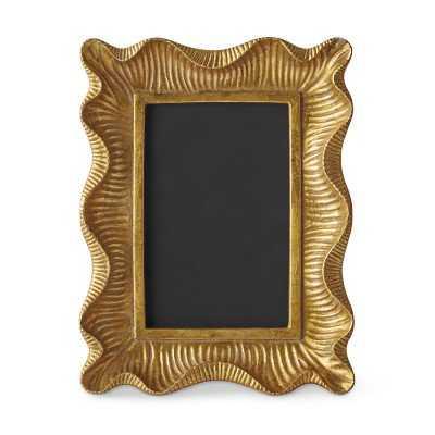 AERIN Gold Scalloped Gallery Frame - Williams Sonoma