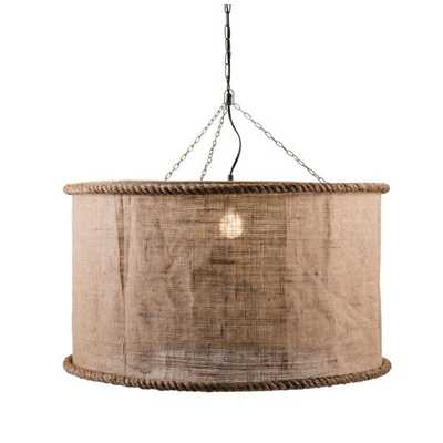 Linen Oversized Pendant Light - Mercer Collection