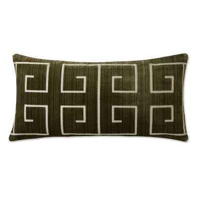 "Addala Velvet Jacquard Pillow Cover, 15"" X 30"", Chartreuse - Williams Sonoma"
