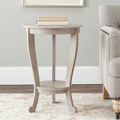 Safavieh Mary Pedestal Side Table in Grey - Bed Bath & Beyond