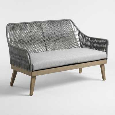 Gray Rapallo Outdoor Occasional Bench - World Market/Cost Plus