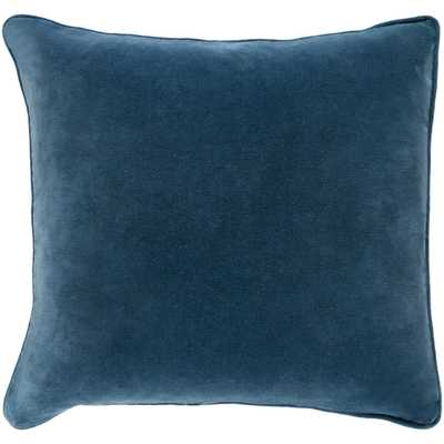"Safflower Pillow -Teal - 18"" x 18"" w/down insert - Neva Home"