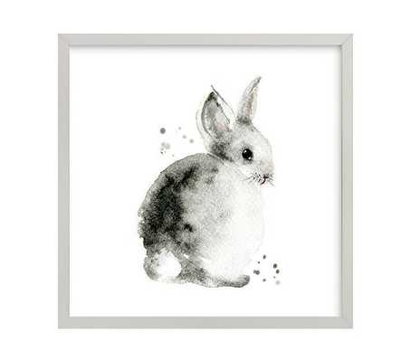 "Bunny 2 Wall Art By Minted® - 16"" x 16"" - Gray - Pottery Barn Kids"