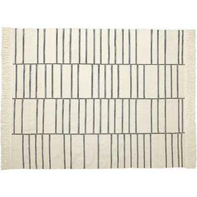 eaton ivory geometric rug, 8'x 10' - CB2
