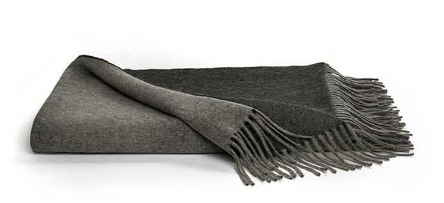Fall Throw Blanket in Charcoal - Brooklinen