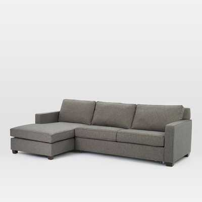 Henry® 2-Piece Pull-Down Full Sleeper Sectional w/ Storage: Left Arm Storage Chaise + Right Arm Sofa Sleeper - West Elm