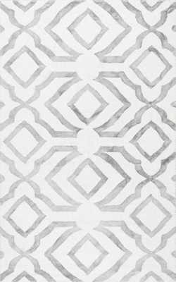 Hand Looped Baggett Rug - Light Grey - 6' x 9' - Loom 23