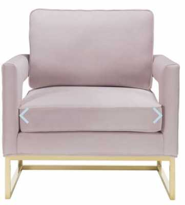 Aubrey Blush Velvet Chair - Maren Home