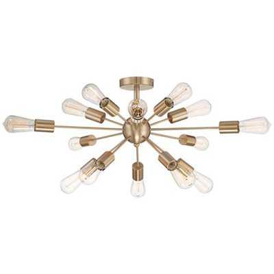 "Possini Euro Hemingson 32"" Wide Edison Gold Ceiling Light - Lamps Plus"